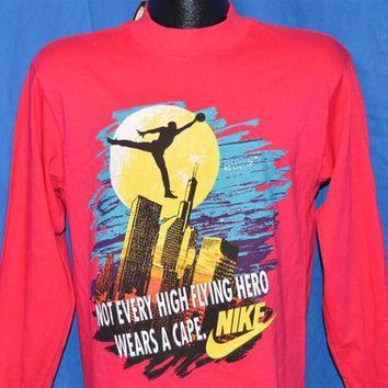 CREYUG7 90s Nike Air Jordan Batman Superhero Chicago Bulls Long Sleeve Deadstock t-shirt Youth