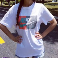 Nike Women Colorblock Logo Tee T-shirt
