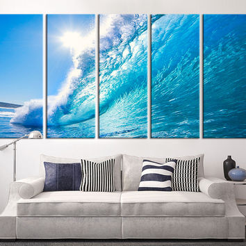 Large Art Canvas Print - Ocean Wave Wall Art, Wall Art Wave on Ocean Canvas Print, Extra Large Ocean Photo Print on Canvas - MC118