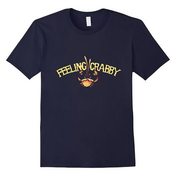 Feeling crabby shirt artistic crab zodiac cancer birthday t