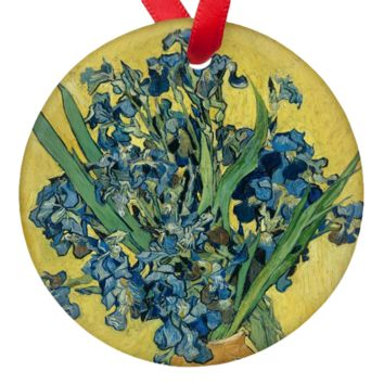 "Vincent Van Gogh Irises 2.75"" Porcelain Ornaments"