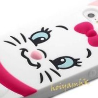 3D Cute Disney AristoCats Marie Cat Silicone Soft Case For iPhone 4/4S/5/5S