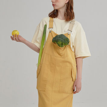 Strap Overall Dress