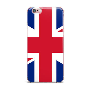 "Bruce Stanfield ""Classic Union Jack"" Blue Red iPhone Case"