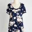 Fairytale Mid-length Short Sleeves Just Because Tee in Navy by ModCloth