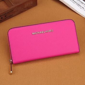 Tagre MK Women Leather Zipper Wallet Purse