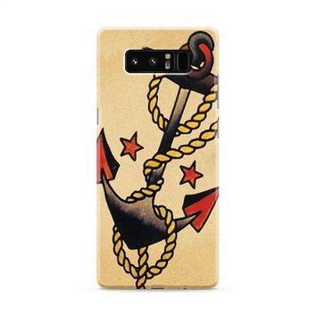 Anchor Tattoo Style Sailor Pirate Samsung Galaxy Note 8 Case