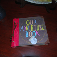 "Disney Pixar Inspired ""Our Adventure Book"" Scrapbook, Wedding Guest Book, Photobook 6"" x 6"""
