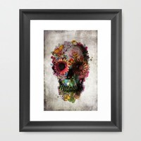 SKULL 2 Framed Art Print by Ali GULEC | Society6