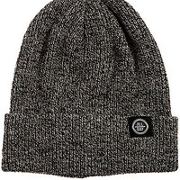 All Day Beanie Fold in Speckle Black