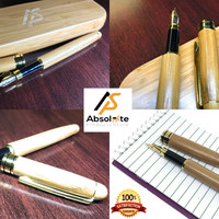 Handcrafted & Eco-friendly Bamboo Fountain Pen with Case: For Signatures & Vintage Writing