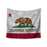 "Bruce Stanfield ""California Flag"" Gray Red Wall Tapestry"
