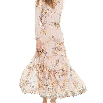 Ahreana Paisley Chiffon Dress