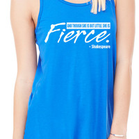 She's fierce Tank Top, Workout Tank Top, Gym Tank, Running Tank Top, Funny Working Out Tank Top, Crossfit Tank B-275-TANK