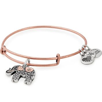 Elephant Two Tone Charm Bangle