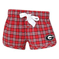 University of Georgia Bulldogs Ovation Ladies Flannel Shorts