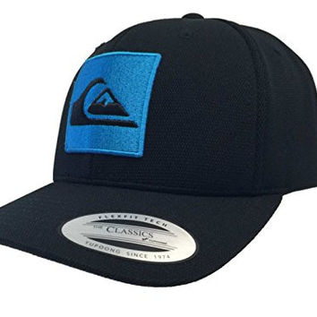 Quiksilver Yupoong Classic Black Snapback Adjustable Structured Hat Cap