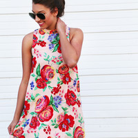 California Roses Tank Dress