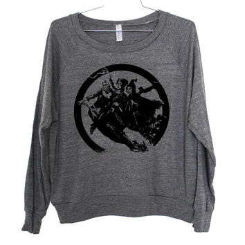 Sanderson Sisters Lightweight Raglan Pullover - American Apparel Ladies Sizes S, M, L