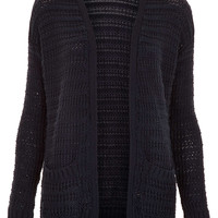 Knitted Step Hem Cardi - Topshop USA