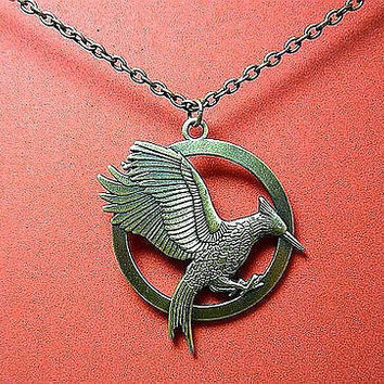 Mockingjay Necklace Inspired by Hunger Games Katniss Catching Fire Free Ship