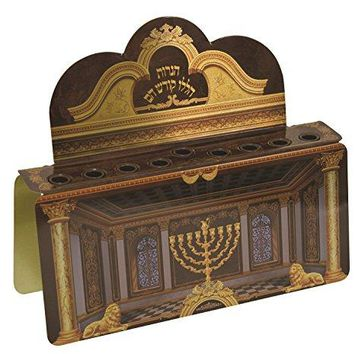 Lamp Lighters Collection Tin Menorah (Menorah)
