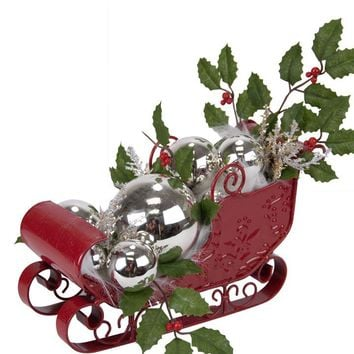 Byers' Choice Sleigh with Silver Balls #ZMS280S LIMITED EDITION