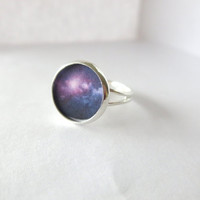 Galaxy Ring - Resin Jewelry - Astronomy Ring - Statement Jewelry