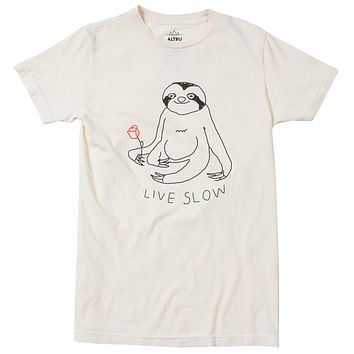 Slow Living Sloth Graphic Tee by Altru Apparel