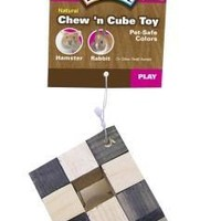 Natural Cube Toy W/Nut