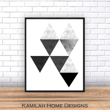 Large Print Abstract Printable Wall Art Geometric Print Scandinavian Art Scandinavian Print Geometric Art Triangle Art Print Modern Art