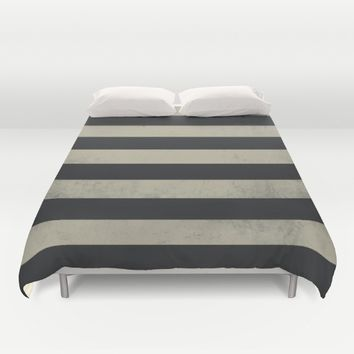 Gray stripes  Duvet Cover by Xiari
