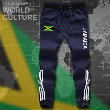 Jamaica  mens pants joggers jumpsuit sweatpants track cargo sweat fitness casual nation country flag 2017 cotton  JAM Jamaican