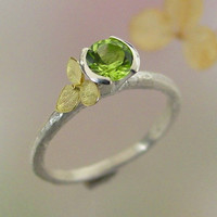 Hydrangea Stacking Ring Sterling Silver by PatrickIrlaJewelry