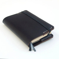 Moleskine Small Leather Cover - Black leather
