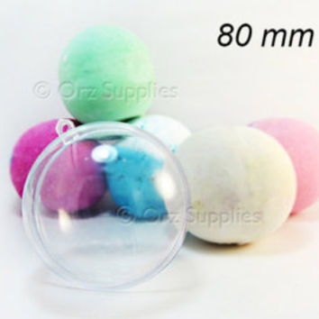 10 Large Round Bath Bomb Mold 3.15 inches / 80mm