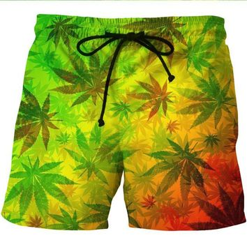 Rasta CannaShorts - Cannabis Athletic Shorts