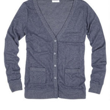 Brushed Button-Front Cardigan