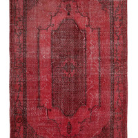 Modern Remade Vintage Rug - Recycled Red Carpet - Rotten Teppich - Faerbter Teppich - Reclaimed Handstitched Red Wholesale Rug- A111403022