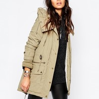 Noisy May Miss Parka With Fishtail Hem