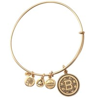 Alex and Ani Boston Bruins Rafaelian Gold Finish Hub Logo Charm Bracelet