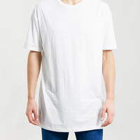 WHITE TEXTURE PANEL T-SHIRT - New Online Pricedrops - 70% Off - Clearance