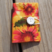 Tea or Sweetener Wallet Yellow Orange Floral Pattern TW002