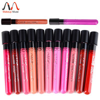 1pcs High Quality Moisture Matte Color Waterproof Lipstick Long Lasting Nude lip stick lipgloss red color vitality cerise star