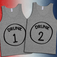 Drunk 1 Through 12 Group Drinking Tanks For 4th Of July