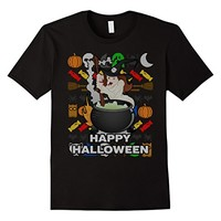 Witches Brew Ugly Sweater Style T-shirt - Happy Halloween