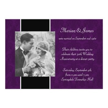 Photo 50th Wedding Anniversary Party Card