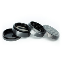 Sleek Black Aluminum Grinder by Myster - 2 inches