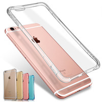 "Thicken Silicone Case For Apple iPhone 6 6S 4.7"" / iPhone 6 Plus 6S Plus 5.5"" Luxury Transparent Back Cover i Phone Fundas Coque"