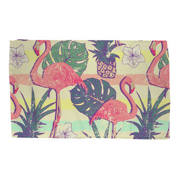 Flamingos and Pineapples Rug